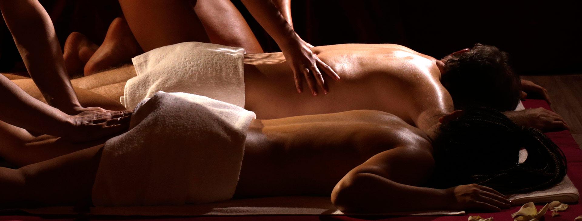 Эротический массаж для семейной пары